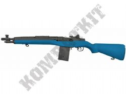 CM032A BB Gun US M14 AEG Electric Airsoft Combat Rifle 2 Tone Blue Black Metal Gear Box